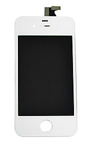 LCD Display Glass Touch Screen Digitaliserer med Framee for iPhone 4S (assorterte farger)