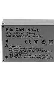 1600mAh camera batterij pack voor Canon NB-7L