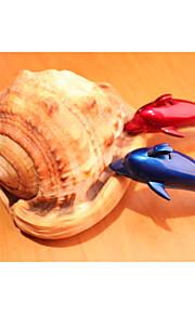 kreative delfiner modellering klassiske cigarettænder blå og rød