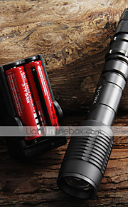 2000LM CREE XML T6 LED Zoombale Flashlight + 2x18650 Batteries + Charger