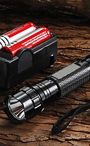 Lanternas LED / Lanternas de Mão LED 5 Modo 1200 Lumens Foco Ajustável Cree XM-L U2 18650.0Campismo / Escursão / Espeleologismo / Uso