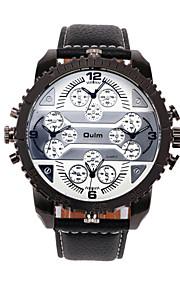 relógio dos homens com mostrador quatro fusos horários especial design exclusivo