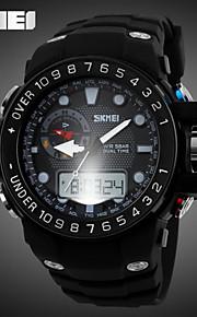 Relógio Esportivo (LCD/Calendário/Cronógrafo/Resistente à Água/Dois Fusos Horários/alarme) - Analógico-Digital - Quartz
