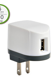 UL Certified Single USB Wall Charger, 5V 1A output, US Plug Face, for iPhone 5/5s/5c iPhone 6/Plus iPhone 3/3G/3Gs