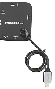 multiples lecteur fonction de carte USB w / ms / m2 / sd / tf + hub