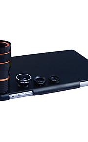 apexel 4 i 1 skit 8x teleobjektiv + vidvinkel + makroobjektiv + fisheye-objektiv med tillbaka fallet för iPad Mini 1/2/3