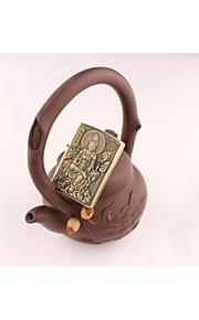 personlighed både sider bronze relief Guanyin bodhisattva petroleum metal lightere