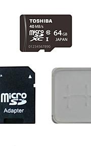 Toshiba 64gb class10 40m / s cartão de memória eo cartão de memória e caixa de adaptador do cartão de memória
