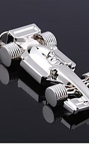 Auto f1 racing bil nøkkelring rustfritt stål nøkkelring arrangør holder slivery holdbar nøkkelring gave