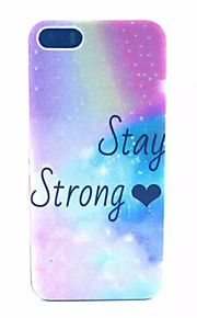 Stay Strong   Pattern Transparent Frosted PC Back Cover For  iPhone 5/5S