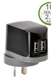 CE Certified Dual USB Wall Charger, AU/New Zealand Plug Plug,5V 2.1A output, for iPhone 5 iPhone 6/Plus, iPad Air/Mini/4