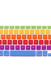 """2 ° generazione pelli della copertura stile arcobaleno della tastiera del silicone per macbook 11 """"13"""" 15 """""""