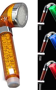 3-farge temperatur kontroll rgb ledet temperatur deteksjon abs farge negativ ion dusj blomst sprinkleranlegg hodet