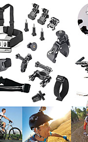 15-In-1 Hot Outdoor Riding Bicycle Accessories Kit , Suitable For GoPro Hero (1~4) And Other Outdoor Sports Camera