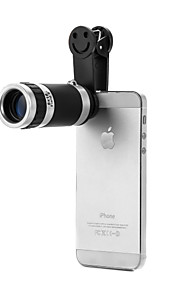 Universal 8X Zoom Lens Mobile Telescope with Clip for Cellphone(Black)