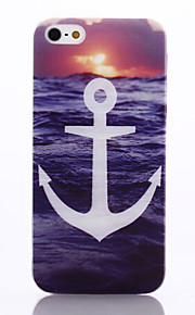 White Anchors Pattern TPU Material Phone Case for iPhone 5/5S