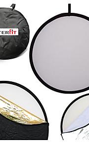 Interfit 110cm 43-tommer 5-i-1 sammenklappelig multi-disc lys reflektor