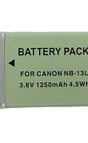 13L 1250mAh kamera batteri til Canon PowerShot g7 x
