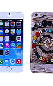 Beautiful Buttons Pattern TPU And IMD Soft Case for iPhone 5/5S
