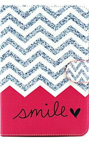 Wave Smile Pattern PU Leather Full Body Case with Stand for iPad mini 1/2/3