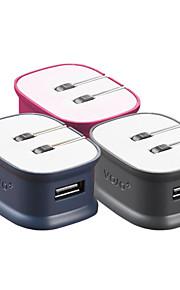 VOJO® Bone Daul USB Charger for iPhone/iPad/Smartphone (2100 mah)