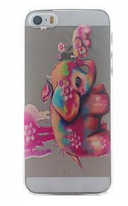 röd elefant mönster ultratunna hårda tillbaka täcker fallet för iPhone 5 / 5s