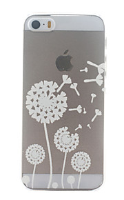 White Dandelion Pattern Ultrathin Hard Back Cover Case for iPhone 5/5S