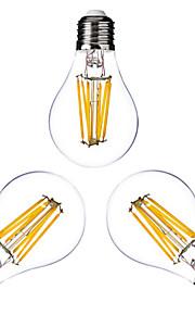3 stk. ONDENN E26/E27 6 W 6 COB 600 LM Varm hvit A Dimbar LED-glødelampe AC 220-240/AC 110-130 V