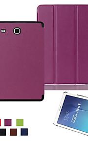 ultrasottile cassa astuta del cuoio supporto magnetico per samsung galaxy tab e 9.6 T560 / scheda 8.0 T350 / scheda un (colore aorted) 9.7