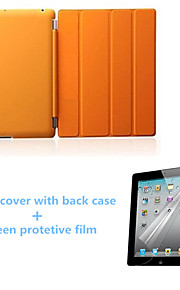 High Quality Auto Sleep PU Leather Stand Case with Back Cover and Screen Protector for iPad 234 (Assorted Colors)