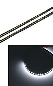 2PCS Carking™ 1210-32SMD-30CM 3.8W 125ML Waterproof Car Decorative Flash Lamp Strip-(DC 12V)