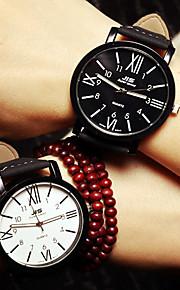 Relógio de pulso do casal relógios homens algarismos romanos mulher assistir alunos simples assistir