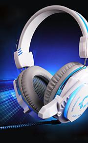 jeu de jeu casque hifi stéréo casque écouteurs avec micro prise de 3,5 mm&USB LED Light pour ordinateur pc portable ordinateur