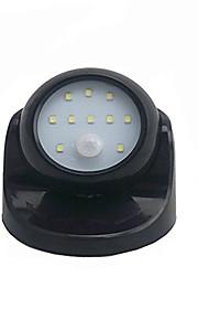 bevegelse aktivert sensor 360 graders rotasjon 10 ledet batteridrevet vegglampe