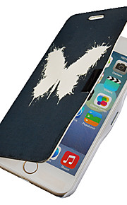 vit fjäril mönster magnetisk flip hela kroppen fallet med hål för iphone 6 plus