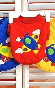 Casacos/Camiseta - Vermelho/Azul/Amarelo - de Algodão - Casamento/Fantasias - para Cães/Gatos