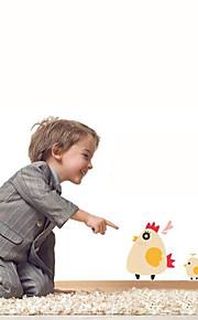 multifunções pvc diy galinha e pintainhos adesivos decorativos