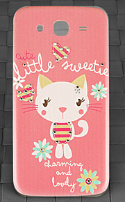 Drill and Pink Cat Pattern PC Back Cover Case for Samsung Galaxy Mega I9152