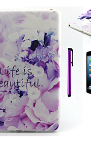 Life Is Beautiful Pattern TPU Soft Back Cover Case for iPad Mini 3/iPad Mini 2/iPad Mini