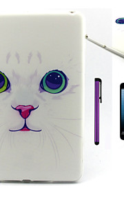 Lovely Cat Pattern TPU Soft Back Cover Case for iPad Mini 3/iPad Mini 2/iPad Mini