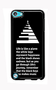 Life is Like a Piano Design Aluminum High Quality Case for iPod Touch 5