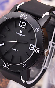 relógios dos homens de superfície do corpo preto relógio movimento de gel de sílica
