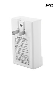 Pisen Portable Xiaomi BM40 Battery Charger II Smart IC Cellphone Charger with Foldable AC Wall Plug White