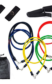 Fitness 11 Set Latex Resistance Bands Workout Exercise Pilates Yoga Crossfit Tubes Pull Rope 16-0028