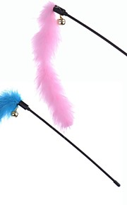 Cat / Dog Pet Toys Teaser / Feather Toy Bell Blue / Pink Plastic