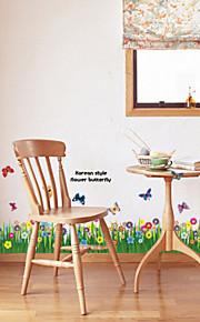 multifunções pvc diy grama e padrão de borboletas adesivos decorativos