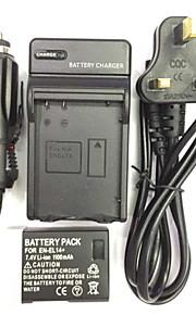 UK/EU/AU 8.4V EN-EL14/EL14A Car Charger +(1PCS)Battery  for Nikon D3200 D3100 D5100P D5200 D5300 P7800 P7000