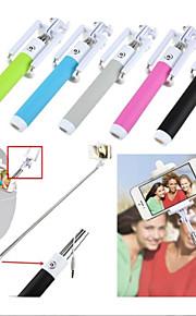 integreret udvides håndholdt kabel kontrol selfie stick justerbar kabel monopod til iphone6, samsung fjernbetjening