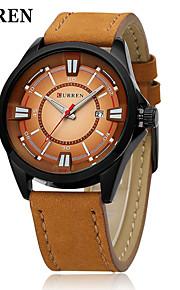 Calendário de Moda de relógio pulseira de couro militar japonês de quartzo dos homens curren®