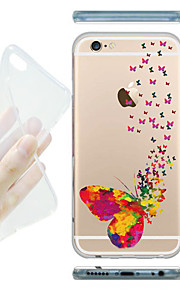 MAYCARI® Velley of Butterflies Transparent Soft TPU Back Case for iPhone 6